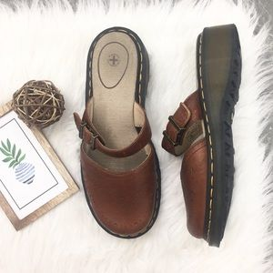 Doc Martens Mary Jane Style Slide-On Leather Mules
